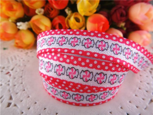 button print ribbon 15mm wide grosgrain sewing cake decoration x 2m