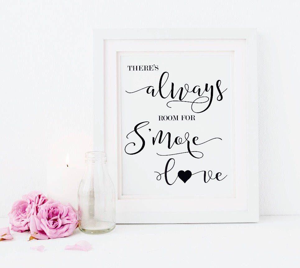 S\'mores Bar Printable Sign - Wedding Sign - S\'mores Sign - S\'mores ...