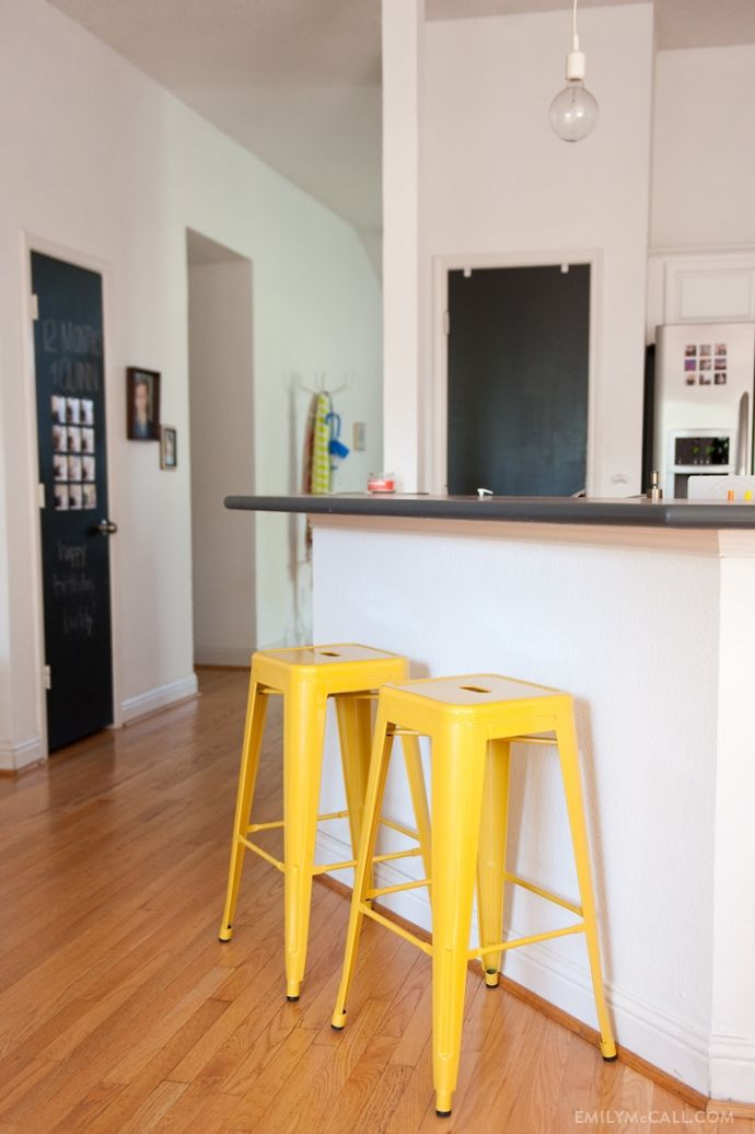 We Have These Barstools From Target Angled Exactly Like This, Actually.  They Are My Color Inspiration For The Wall Behind Our Living Room Couch.  But In A ...