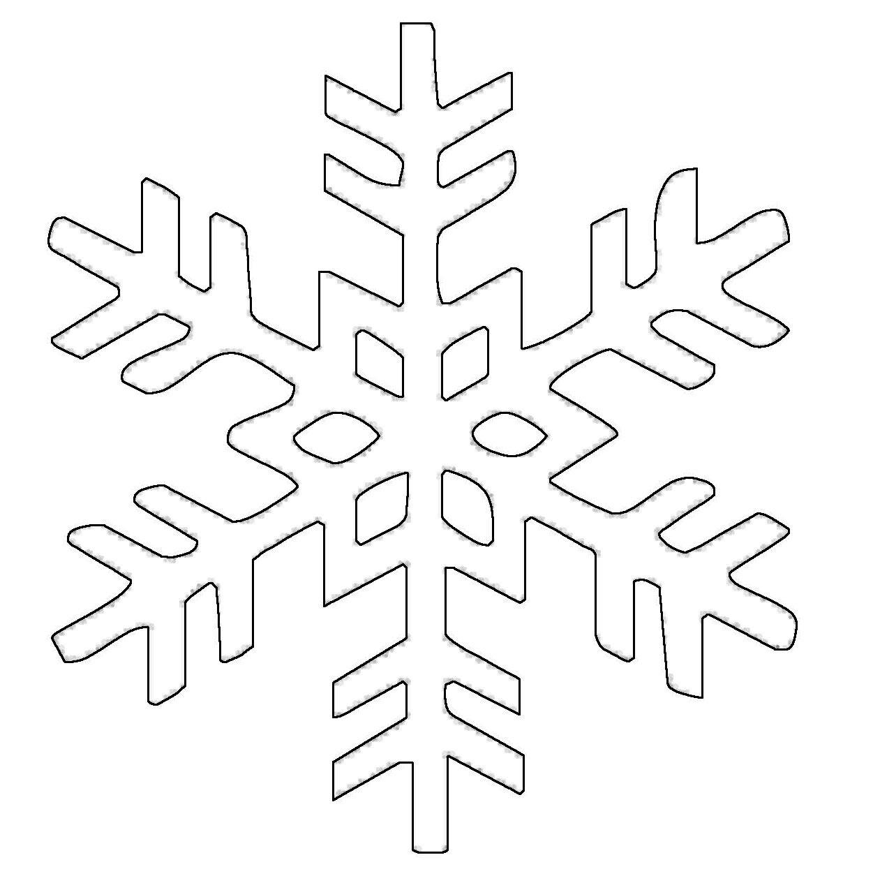 Ausmalbild Schneeflocken Und Sterne Kostenlose Malvorlage