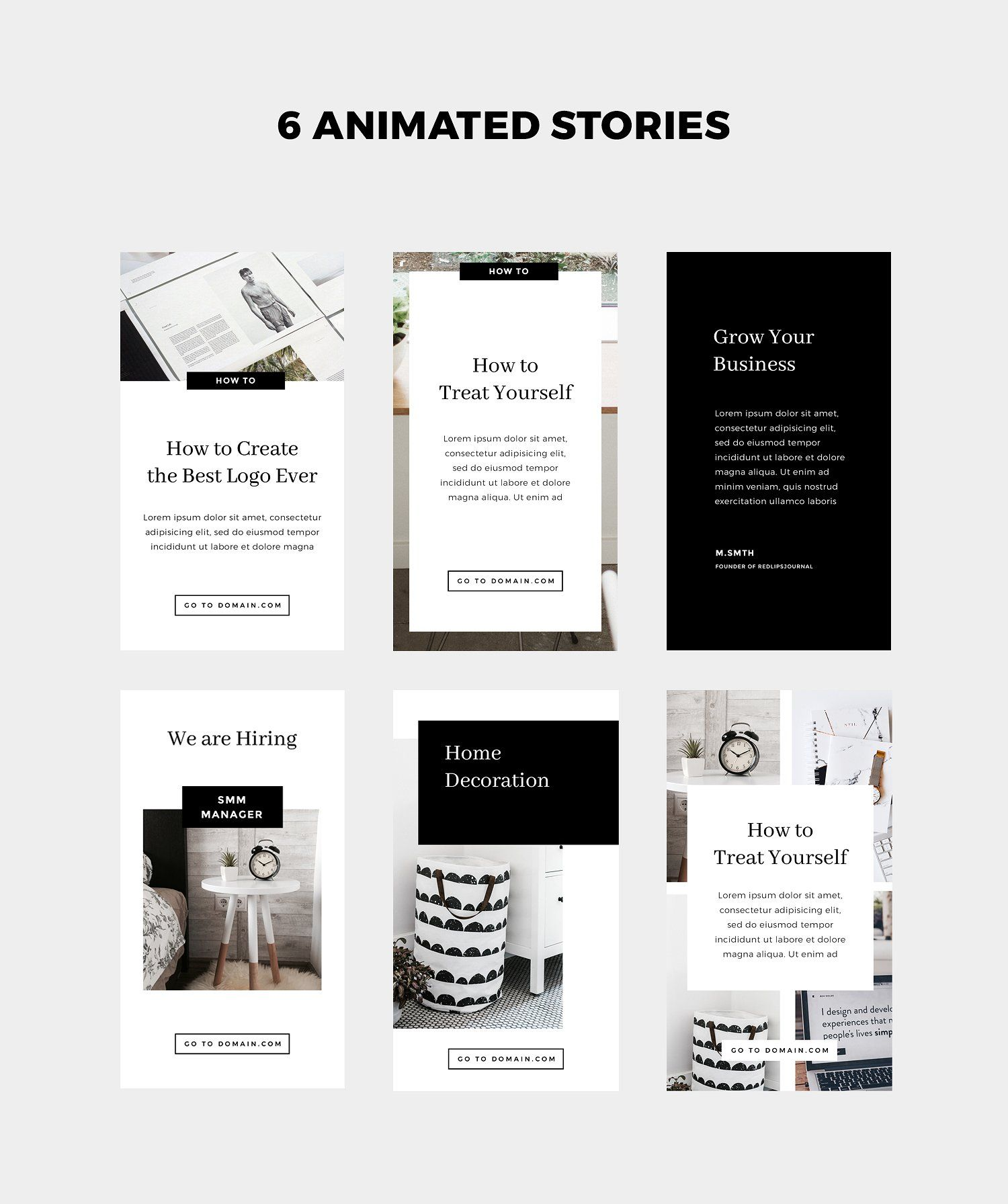 Animated Instagram Stories & Posts by Sowwwa on