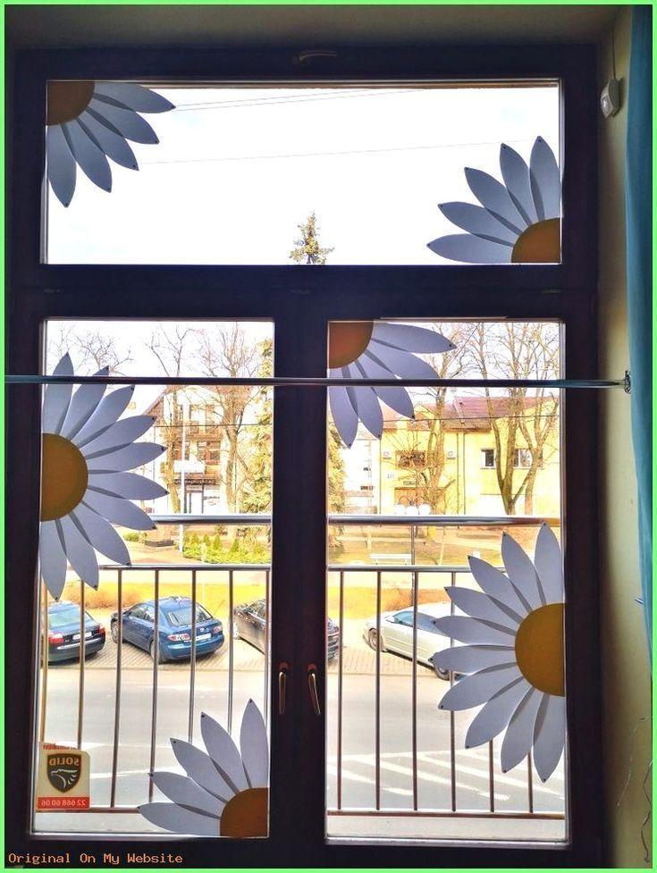 Kunst Grundschule – Frühlingsdekoration Fensterblumen Kindergarten – #decorations # fensterde…
