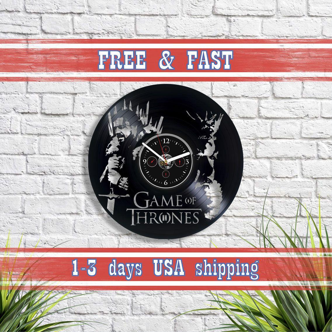 Ned Stark Gift Game Of Thrones Wall Art Serial Clock Lp