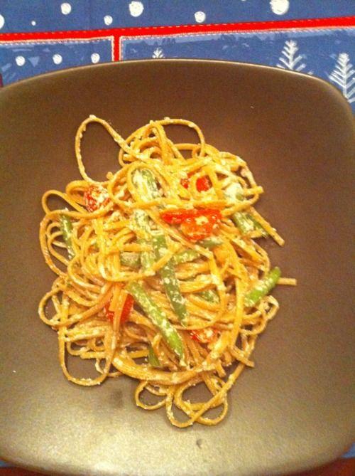 Whole-Wheat Linguine with Green Beans, Ricotta, & Lemon | cookbookmeals.com