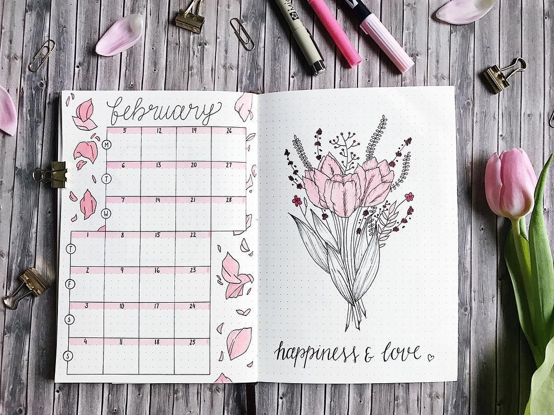 Bullet Journal Monthly Calendar Bullet Journal Vertical