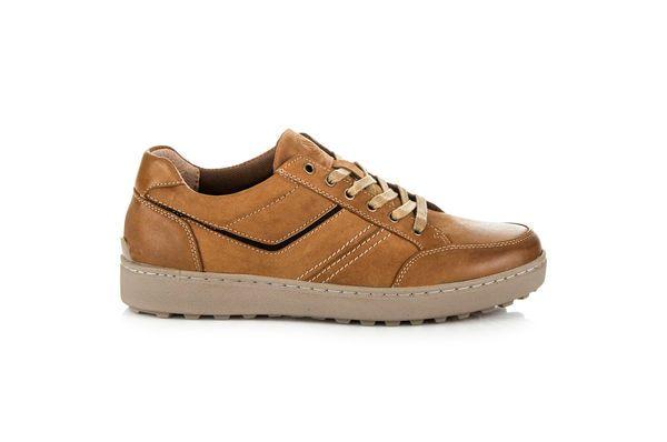 New Age Sportowe Obuwie Ze Skory Brazowe Sneakers Shoes Fashion