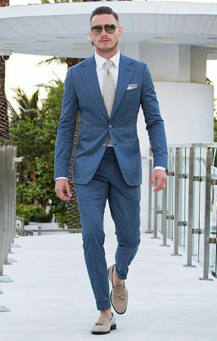 Pin by MontrellDemet on Men in Blue Suits | Pinterest