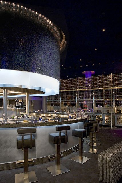 Guthrie Theatre Cue Restaurant - By Schuler Shook Lighting Design with Winona Lighting