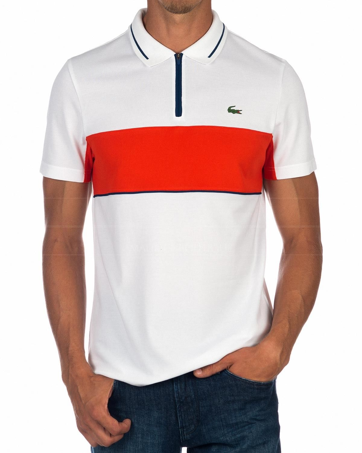 2c4f59f39e8a Lacoste Polo Sport - White   Orange in 2019