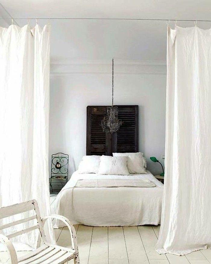 la s paration de pi ce amovible optez pour un rideau s paration couleurs blanches et couleurs. Black Bedroom Furniture Sets. Home Design Ideas