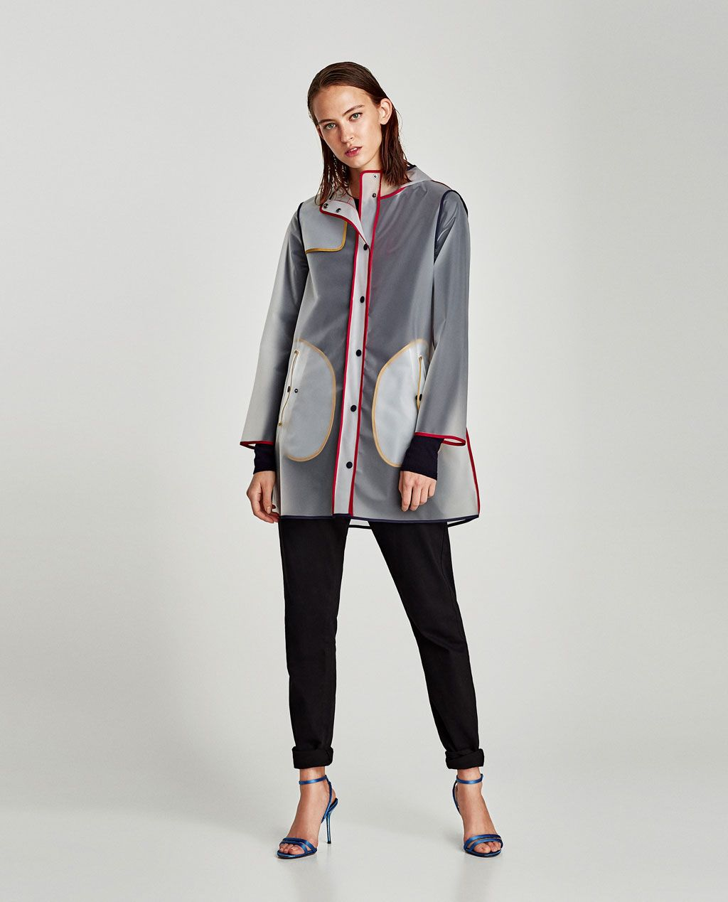e6dda562 Image 1 of WATER REPELLENT PARKA WITH COLORED PIPING from Zara ...