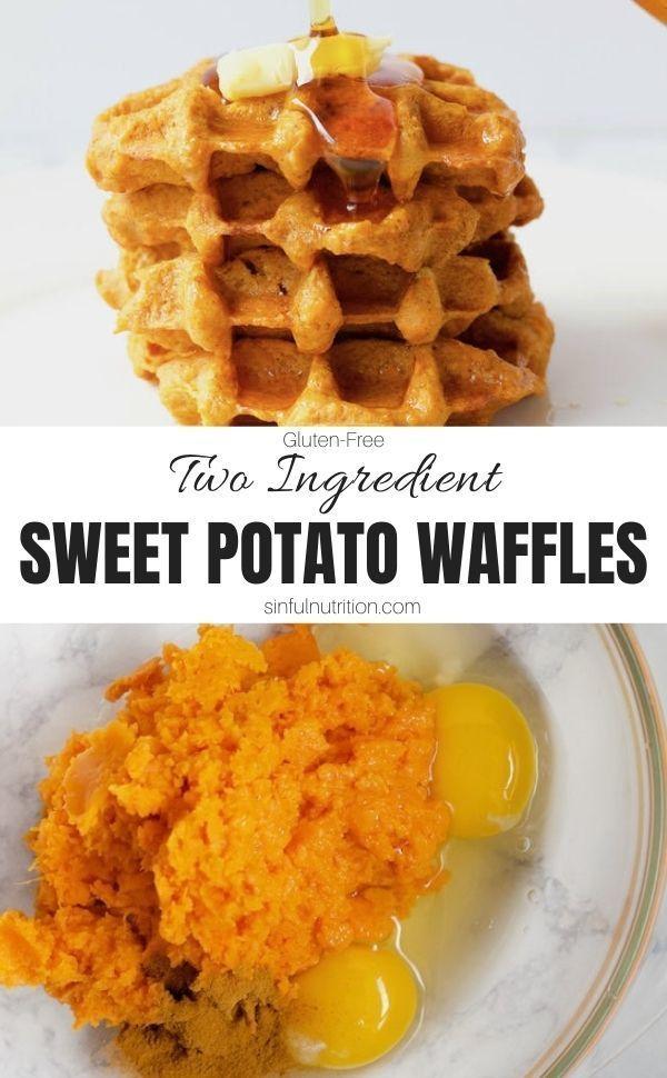 Two Ingredient Sweet Potato Waffles These two ingr