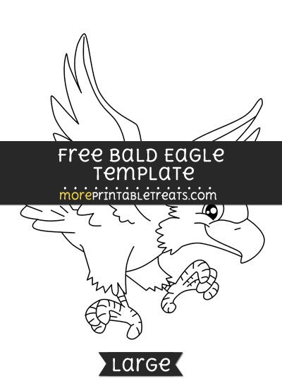 Free Bald Eagle Template - Large | Shapes and Templates Printables ...
