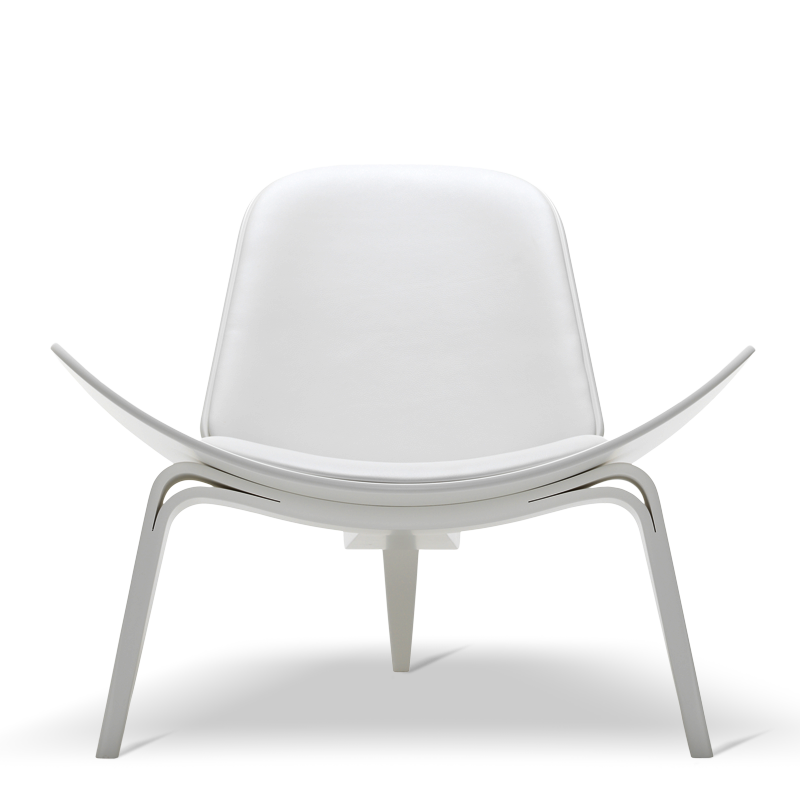 white shell chair ch07 1963 chair stuhl chaise design hans j wegner carl hansen s n. Black Bedroom Furniture Sets. Home Design Ideas