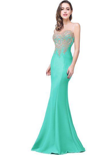 82b89cc6553 Babyonline® Women s Lace Applique Long Formal Mermaid Evening Prom Dresses