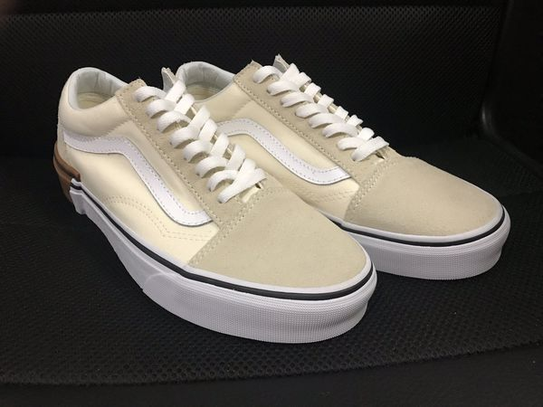 Vans old school shoes, Cream shoes