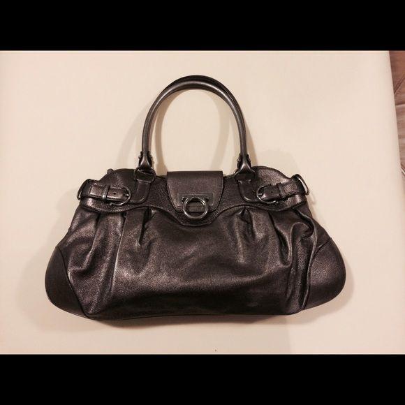 Salvatore Ferragamo Marisa handle bag Metallic gold leather bag with silver-tone  hardware 2a63b26be4fc7
