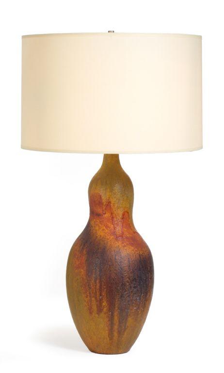 Earth Tone Gourd Shape Table Lamp By Fantoni For Raymor Lamp Ceramic Table Lamps Table Lamp