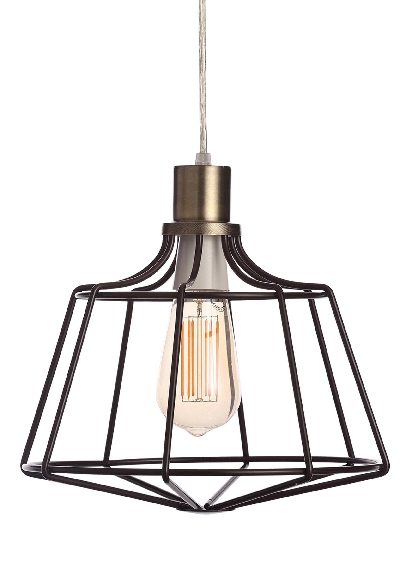 Callisto Caged Easy Fit Lamp Shade (W28cm x H25cm) Black