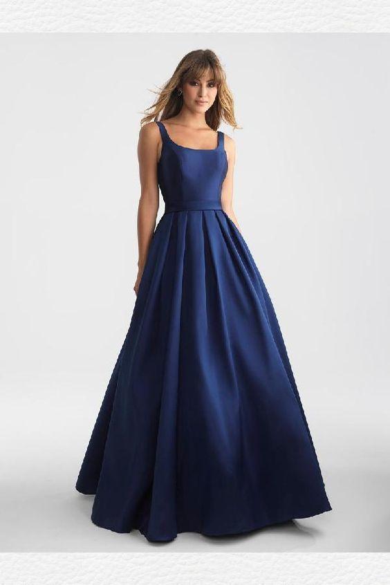 bd39fc2d906 Navy Evening Dress