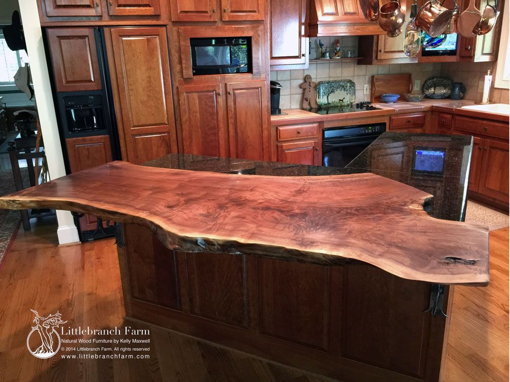 Natural Wood Countertops Live Edge Wood Slabs Littlebranch