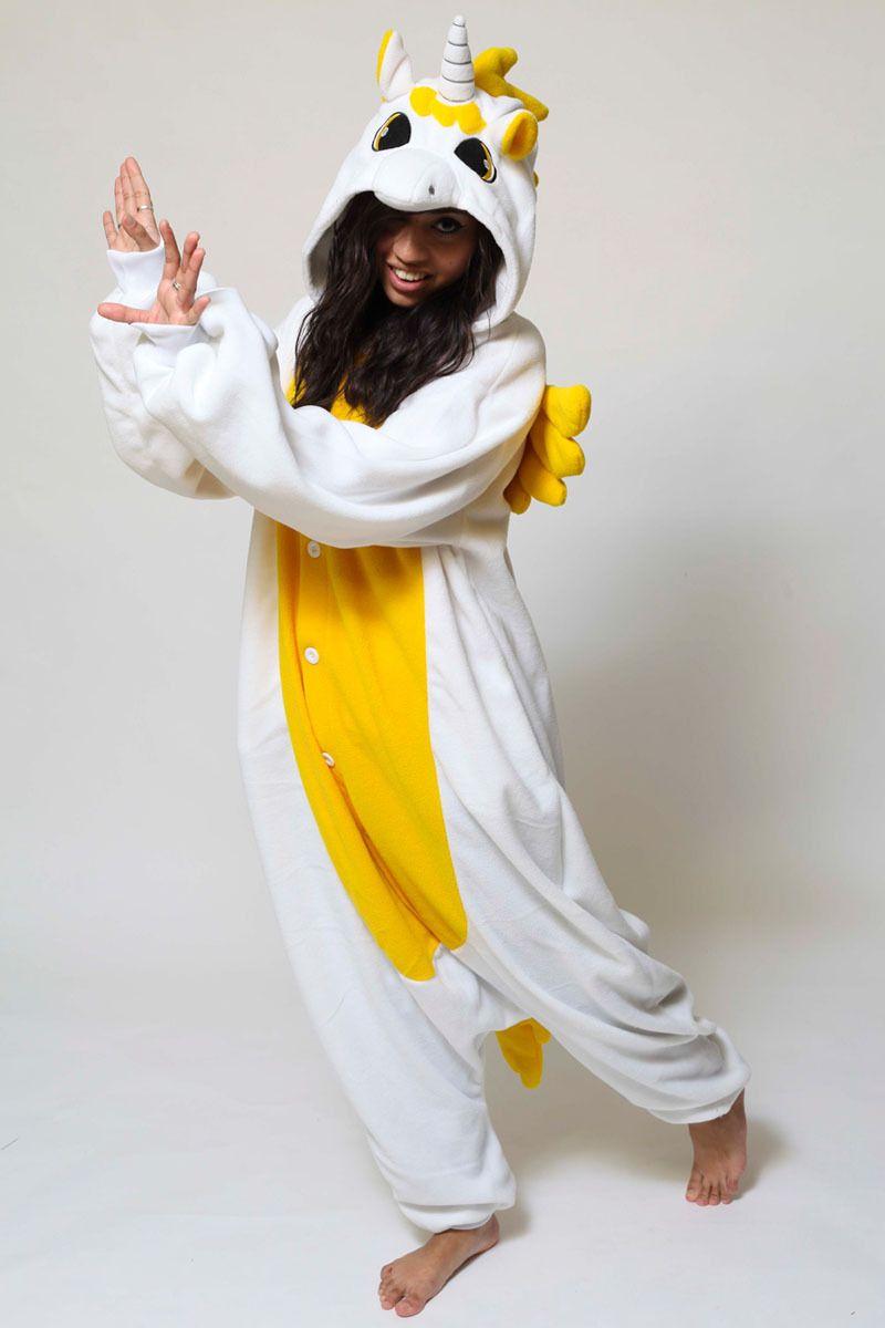 PajamasBuy - Animal Adult Golden Unicorn Onesies kigurumi Hoodie Pajamas  christmas 3924ceab3