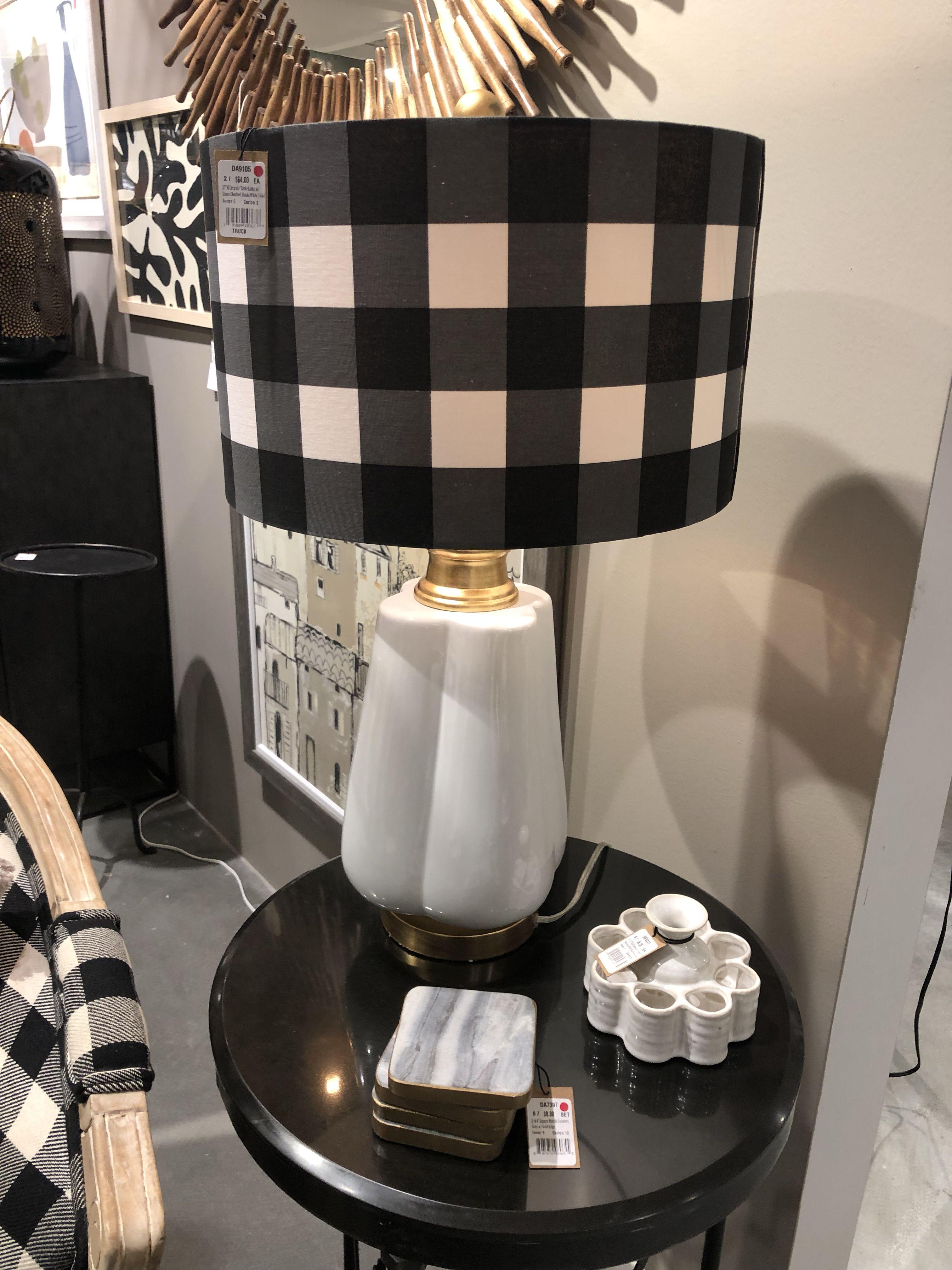 Buffalo Check Lamp Black And White Furniture Home Decor Decor