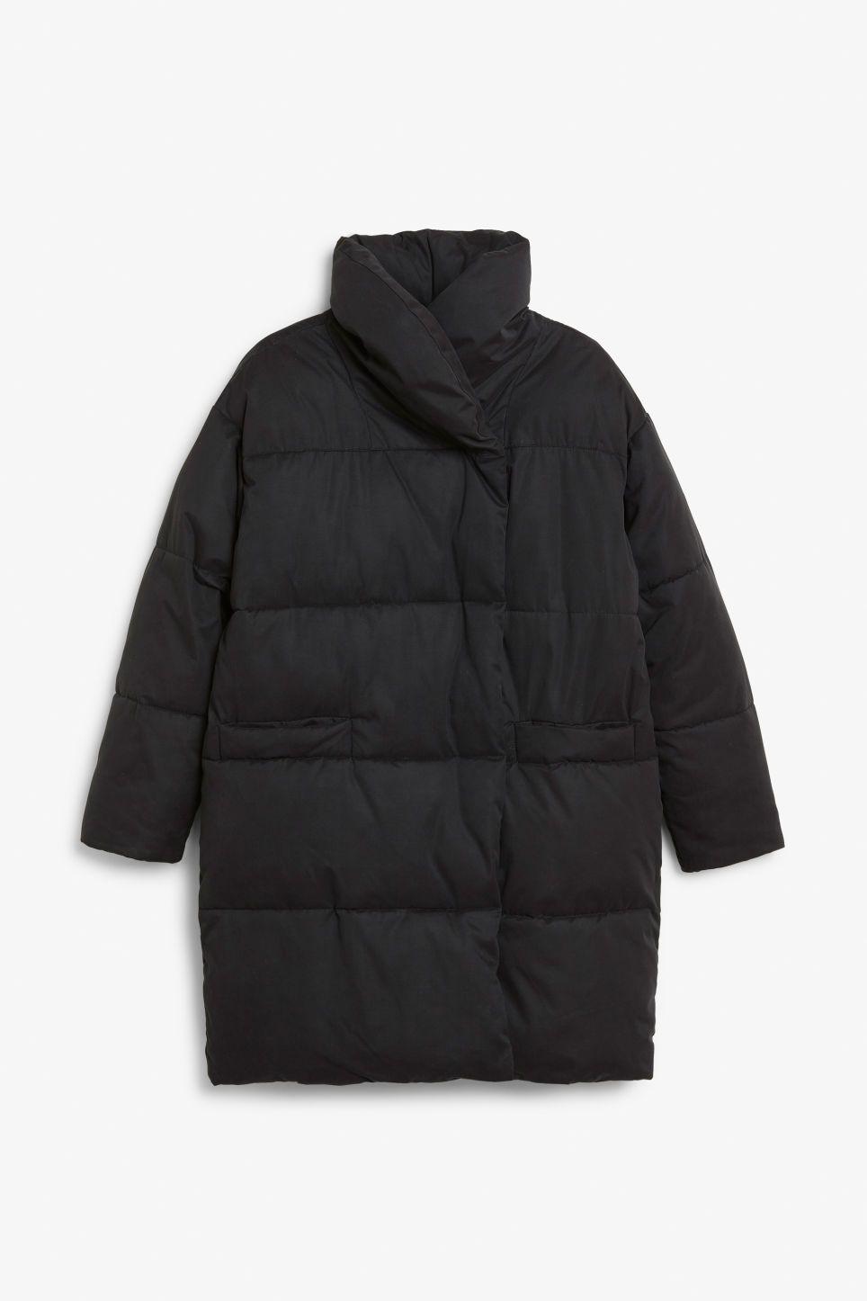 Photo of Oversized puffer coat – Black magic – Coats & Jackets – Monki