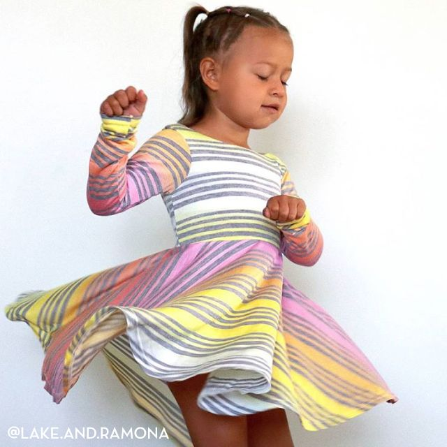 6687e657ea9 Last few hours to shop our One Day Only FLASH Fabric Sale to get this fun  Rainbow Multi Stripe Cotton Jersey Blend Knit for only $2.50/yard!