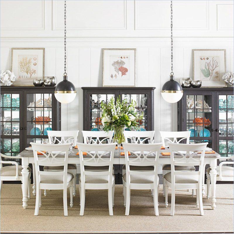 Coastal Living Retreat Rectangular Leg Dining Table In