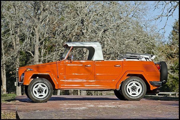 1973 Volkswagen Thing Convertible Hard Top Over Front Seat