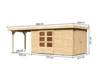 Karibu Woodfeeling Gartenhaus Retola (optional mit Anbaudach)