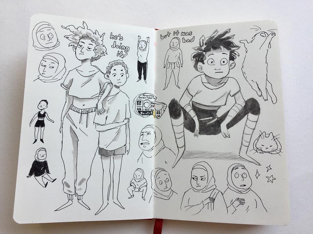 Sketchbook Art Ink Dibujos Japoneses Diseno De Personajes