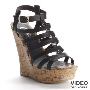 Sandals Candie's® WomenFlatsamp; Slides Gladiator Wedge Platform H9Y2IWED