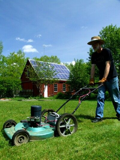 Converting A Gas Mower To Solar Electric Power Solar Electric Solar Lawn Mower