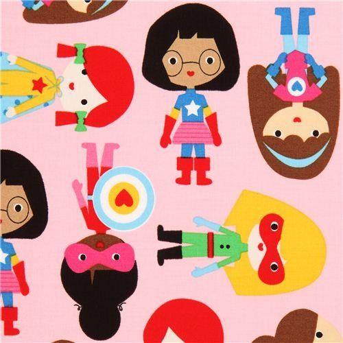 Amazon.com - pink female super heroes fabric by Robert Kaufman USA (per 0.5m multiple)
