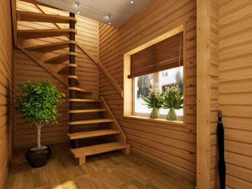 Modern interior design with spiral stairs contemporary - Interior ladder stair design ...