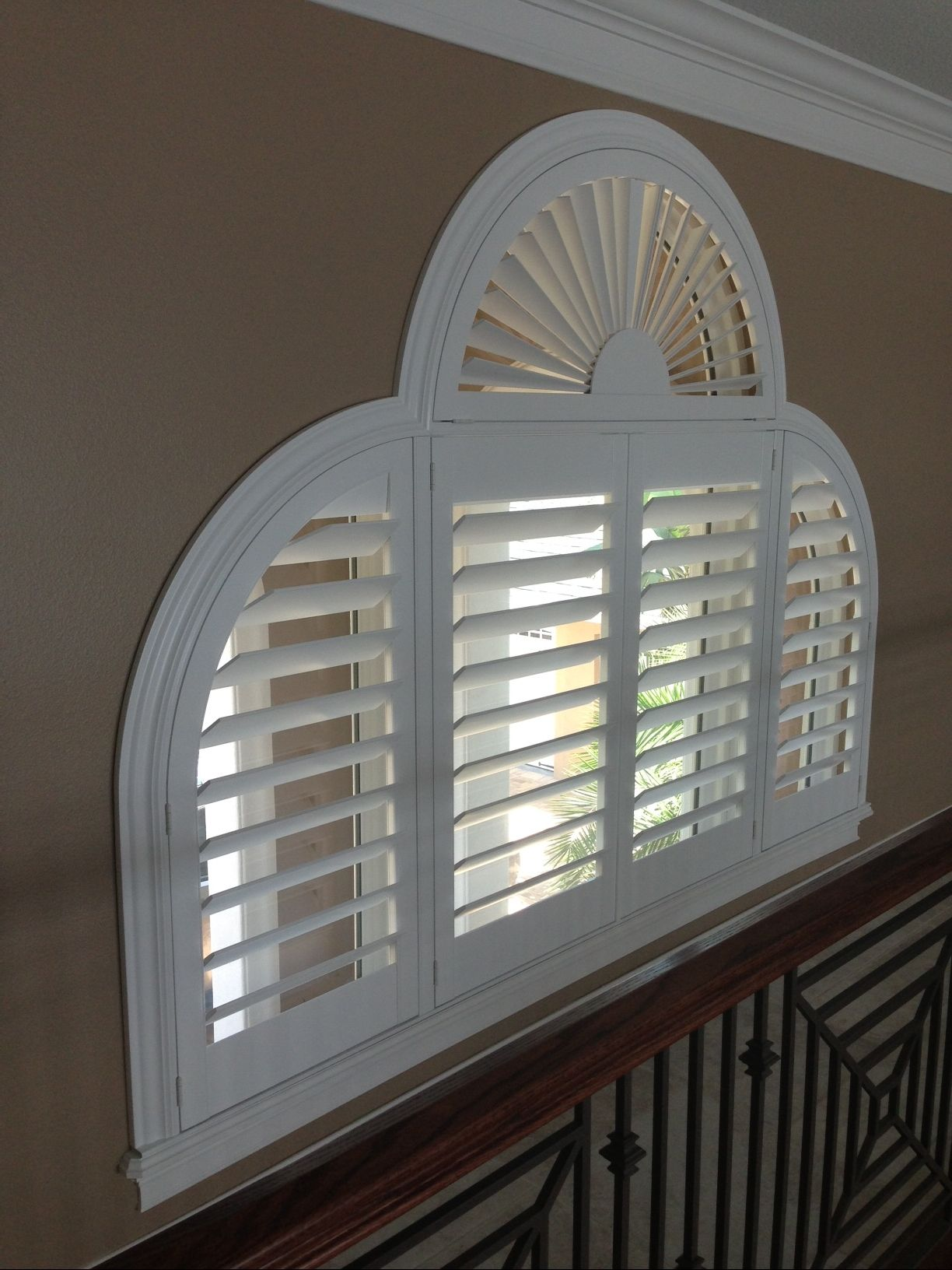 Specialty shape shutters our work norman shutters - Shutters for decoration interior ...