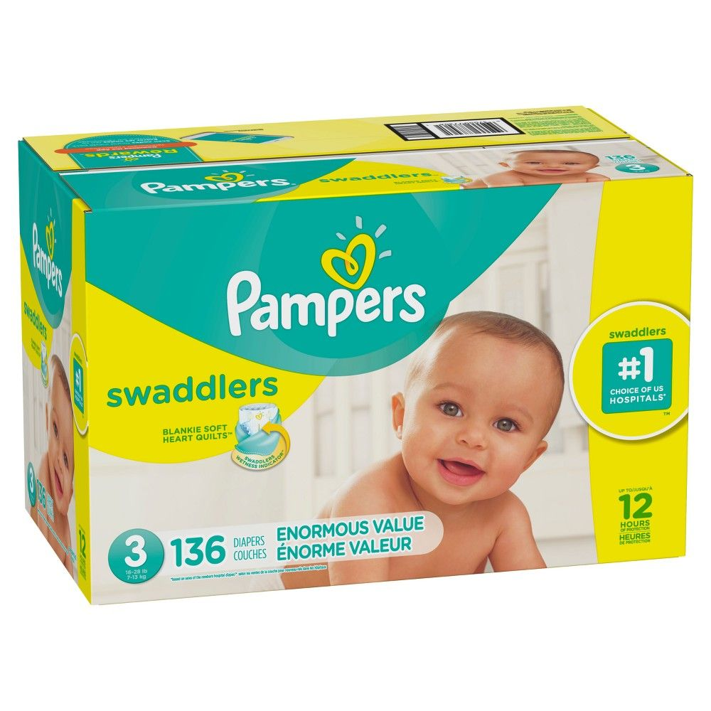 Pampers Swaddlers Disposable Diapers Enormous Pack Size 3 136ct Pampers Swaddlers Diapers Baby Diapers Sizes Pampers Diapers