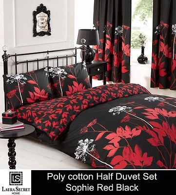 Floral Print Duvet Cover Quilt Bedding Set Pillowcase Single Double King Sk Size Red Duvet Cover Pillow Case Bed Bed Duvet Covers