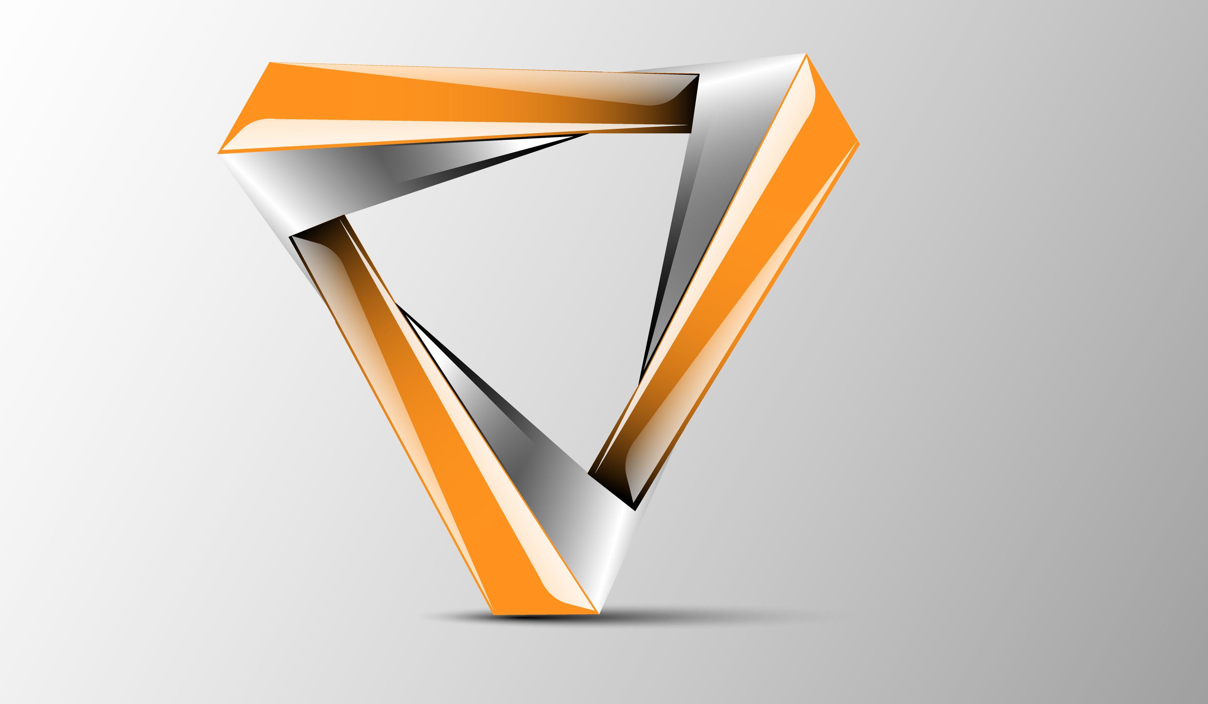 New triangle 3d logo design logo 3d triangle design