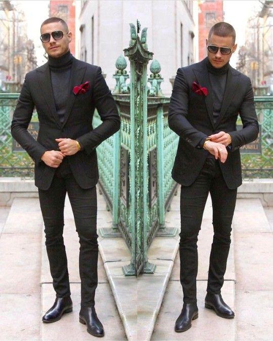 DAPPERMEN | All Black Everything | Mens fashion, Suit ...