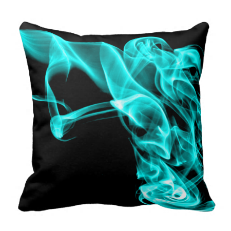 This Turquoise Black Modern Design Pillow Cushion is really striking and will give a stylish look to any area.