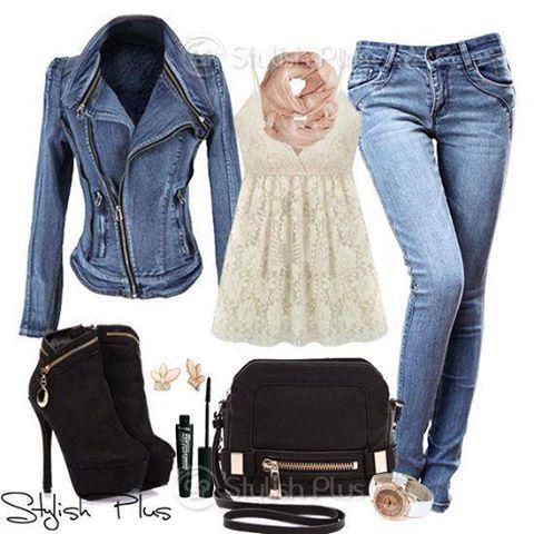 Lucir y verte sexy con una chaqueta de jeans.