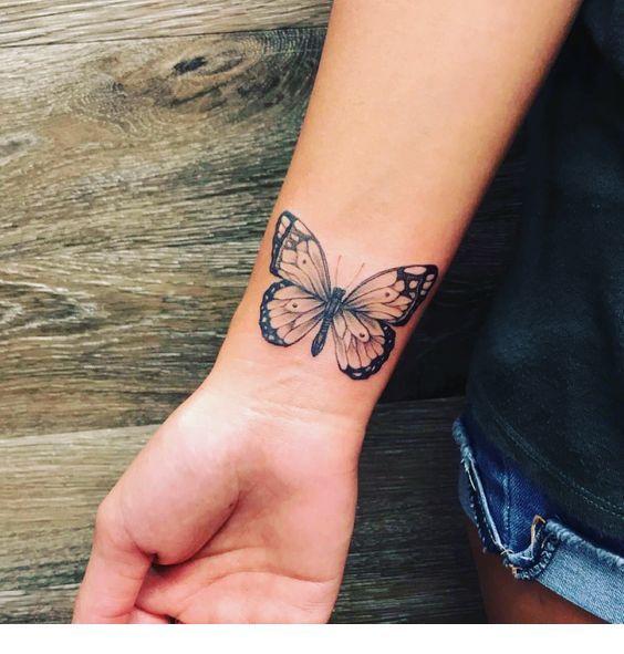 Pretty Wrist Tattoo Lilostyle In 2020 Butterfly Wrist Tattoo Butterfly Tattoo Tattoos