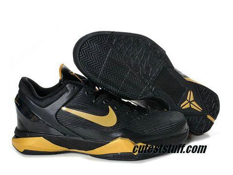 low priced 6c8e5 9af21 Nike Zoom Kobe 7 black gold