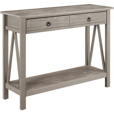 Home Gray Console Table Wood Sofa Table Console Table
