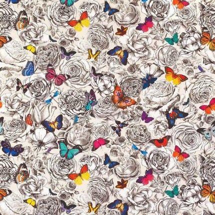 Papier peint papillon et tissu papillon - Etoffe.com   Wallcoverings ...