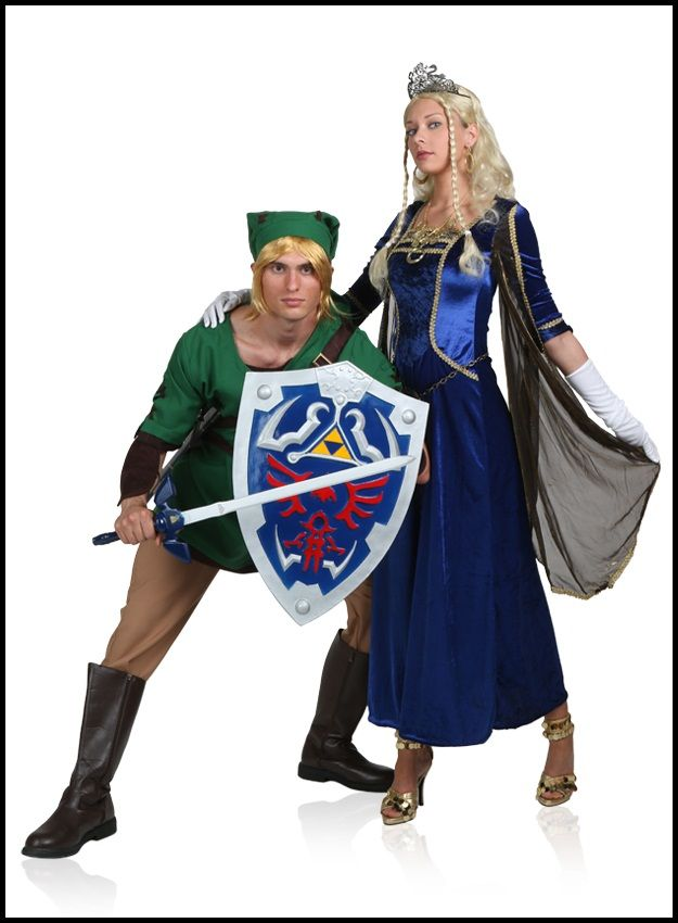 Link and Zelda  sc 1 st  Pinterest & Video Game Couples Costume Ideas | Pinterest | Couple costume ideas ...