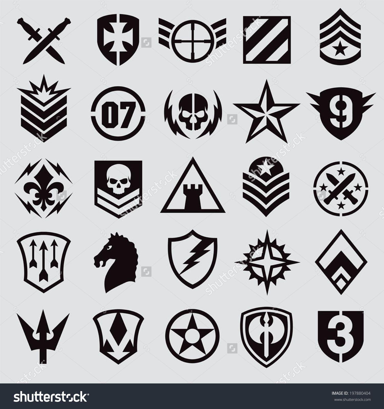 Military Badges Google Search Symbols Military Pinterest